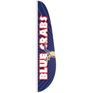 FF-E-315-BLUECRAB Blue Crabs 3' x 15' Feather Flag-0