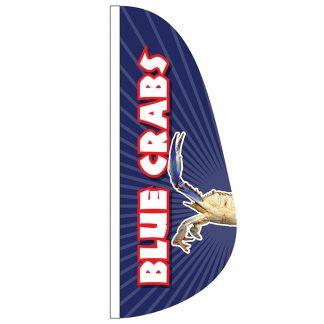FF-E-38-BLUECRAB Blue Crabs 3' x 8' Feather Flag-0