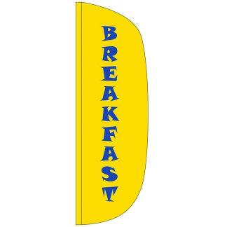 FF-L-310-BREAKFAST Breakfast 3' x 10' Flutter Feather Flag-0