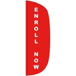 FF-L-310-ENROLL Enroll Now 3' x 10' Flutter Feather Flag-0