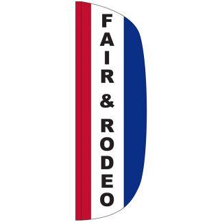 FF-L-310-FAIR Fair & Rodeo 3' x 10' Flutter Feather Flag-0