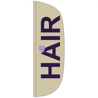 FF-L-310-HAIR Hair 3' x 10' Flutter Feather Flag-0