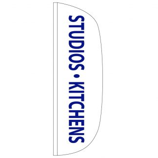 FF-L-310-KITCHENS Studios & Kitchens 3' x 10' Flutter Feather Flag-0