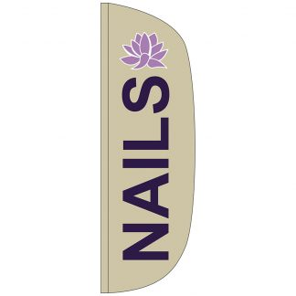 FF-L-310-NAILS Nails 3' x 10' Flutter Feather Flag-0
