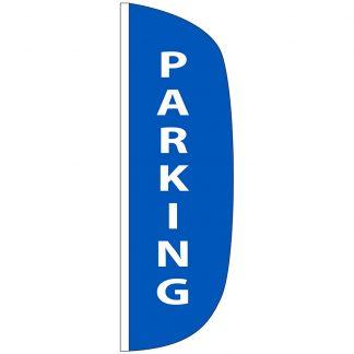 FF-L-310-PARKING Parking 3' x 10' Flutter Feather Flag-0