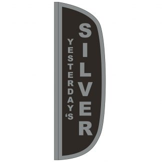 FF-L-310-SILVER Silver 3' x 10' Flutter Feather Flag-0