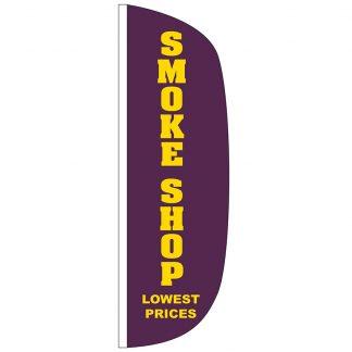 FF-L-310-SMOKE Smoke Shop 3' x 10' Flutter Feather Flag-0