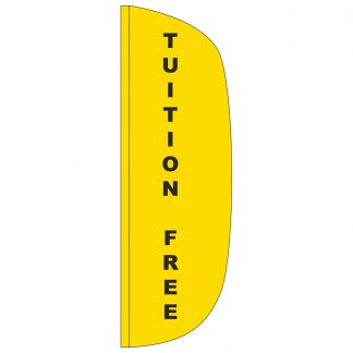 FF-L-310-TUITION Tuition Free 3' x 10' Flutter Feather Flag-0