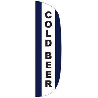 FF-L-312-BEER Cold Beer 3' x 12' Flutter Feather Flag-0