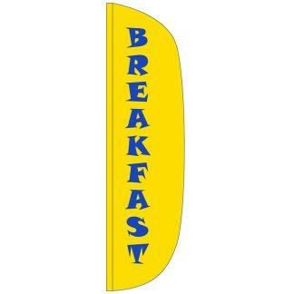 FF-L-312-BREAKFAST Breakfast 3' x 12' Flutter Feather Flag-0