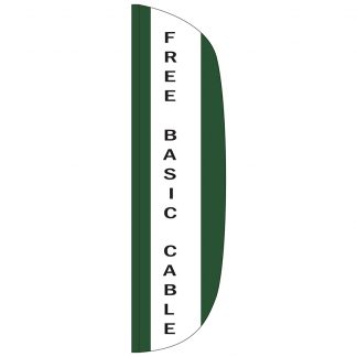 FF-L-312-CABLE Free Basic Cable 3' x 12' Flutter Feather Flag-0