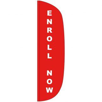 FF-L-312-ENROLL Enroll Now 3' x 12' Flutter Feather Flag-0