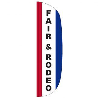 FF-L-312-FAIR Fair & Rodeo 3' x 12' Flutter Feather Flag-0