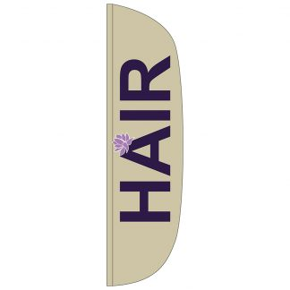 FF-L-312-HAIR Hair 3' x 12' Flutter Feather Flag-0