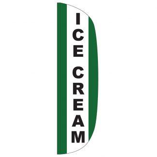 FF-L-312-ICECREAM Ice Cream 3' x 12' Flutter Feather Flag-0
