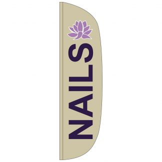 FF-L-312-NAILS Nails 3' x 12' Flutter Feather Flag-0