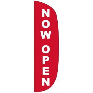 FF-L-312-NOWOPEN Now Open 3' x 12' Flutter Feather Flag-0