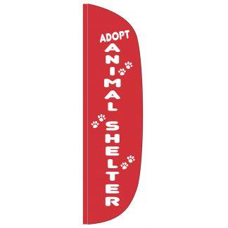 FF-L-312-SHELTER Animal Shelter 3' x 12' Flutter Feather Flag-0