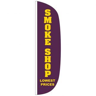 FF-L-312-SMOKE Smoke Shop 3' x 12' Flutter Feather Flag-0