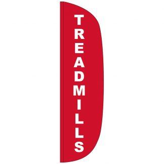 FF-L-312-TREAD Treadmills 3' x 12' Flutter Feather Flag-0