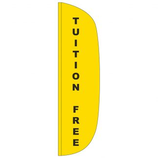 FF-L-312-TUITION Tuition Free 3' x 12' Flutter Feather Flag-0