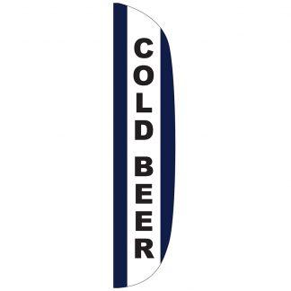 FF-L-315-BEER Cold Beer 3' x 15' Flutter Feather Flag-0
