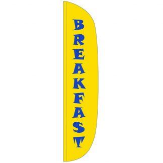 FF-L-315-BREAKFAST Breakfast 3' x 15' Flutter Feather Flag-0