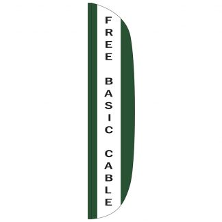 FF-L-315-CABLE Free Basic Cable 3' x 15' Flutter Feather Flag-0