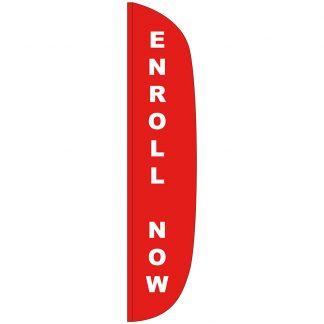 FF-L-315-ENROLL Enroll Now 3' x 15' Flutter Feather Flag-0