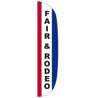 FF-L-315-FAIR Fair & Rodeo 3' x 15' Flutter Feather Flag-0