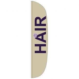 FF-L-315-HAIR Hair 3' x 15' Flutter Feather Flag-0