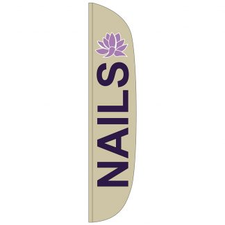 FF-L-315-NAILS Nails 3' x 15' Flutter Feather Flag-0