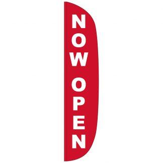 FF-L-315-NOWOPEN Now Open 3' x 15' Flutter Feather Flag-0