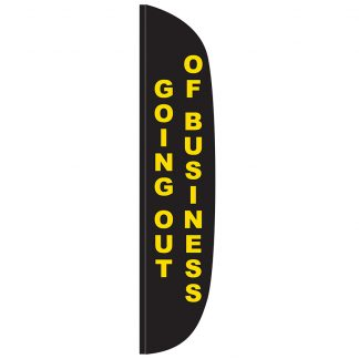 FF-L-315-OUT Going Out of Business 3' x 15' Flutter Feather Flag-0