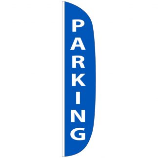 FF-L-315-PARKING Parking 3' x 15' Flutter Feather Flag-0