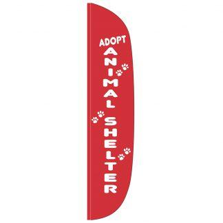 FF-L-315-SHELTER Animal Shelter 3' x 15' Flutter Feather Flag-0