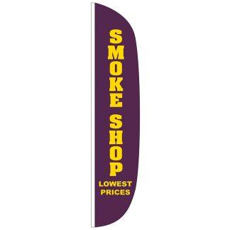 FF-L-315-SMOKE Smoke Shop 3' x 15' Flutter Feather Flag-0