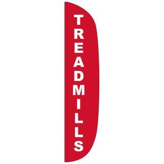 FF-L-315-TREAD Treadmills 3' x 15' Flutter Feather Flag-0