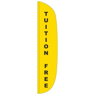 FF-L-315-TUITION Tuition Free 3' x 15' Flutter Feather Flag-0