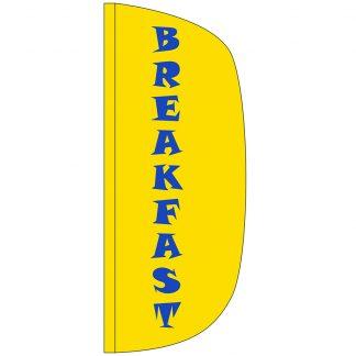 FF-L-38-BREAKFAST Breakfast 3' x 8' Flutter Feather Flag-0