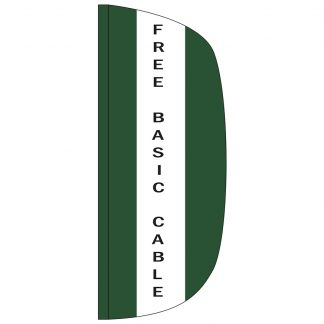 FF-L-38-CABLE Free Basic Cable 3' x 8' Flutter Feather Flag-0
