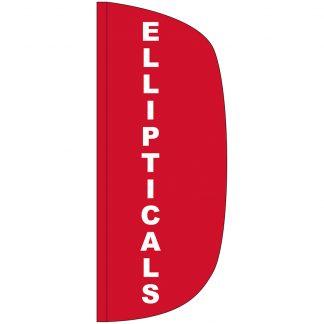 FF-L-38-ELL Ellipticals 3' x 8' Flutter Feather Flag-0