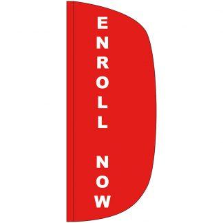 FF-L-38-ENROLL Enroll Now 3' x 8' Flutter Feather Flag-0