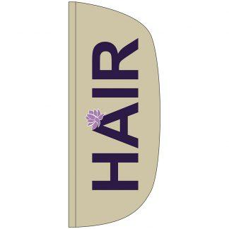 FF-L-38-HAIR Hair 3' x 8' Flutter Feather Flag-0