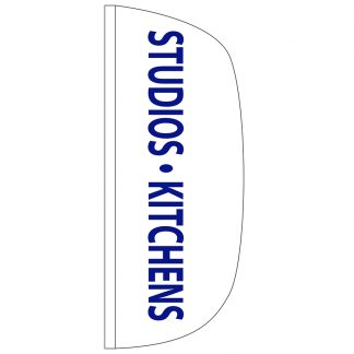 FF-L-38-KITCHENS Studios & Kitchens 3' x 8' Flutter Feather Flag-0