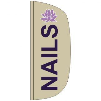 FF-L-38-NAILS Nails 3' x 8' Flutter Feather Flag-0