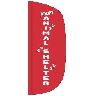 FF-L-38-SHELTER Animal Shelter 3' x 8' Flutter Feather Flag-0