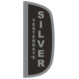 FF-L-38-SILVER Silver 3' x 8' Flutter Feather Flag-0