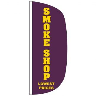 FF-L-38-SMOKE Smoke Shop 3' x 8' Flutter Feather Flag-0