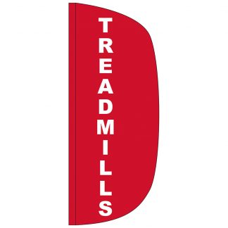 FF-L-38-TREAD Treadmills 3' x 8' Flutter Feather Flag-0
